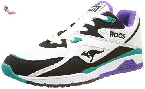 Kangaroos Coil R2, Sneakers Basses Mixte Adulte, Blanc (White/Smaragd 083), 46 EU