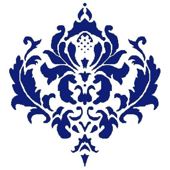 Elizabethian Damask PDF Cross Stitch Pattern by Nrapture on