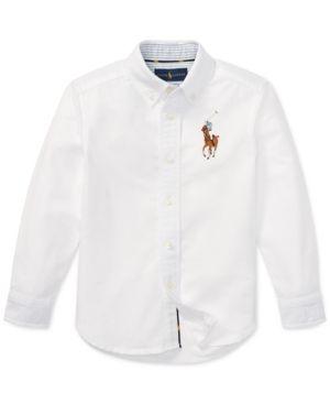 2d9bc0798 Polo Ralph Lauren Little Boys Big Pony Cotton Oxford Shirt - White 7 ...
