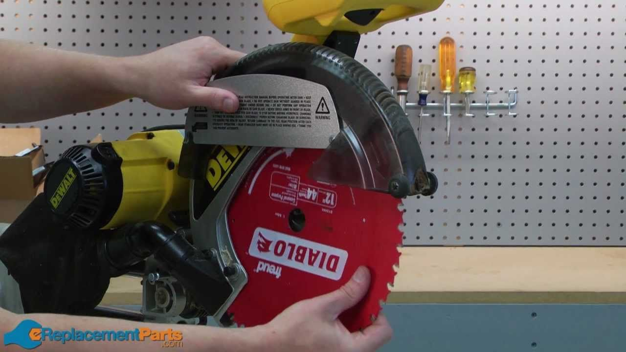 How to replace the guard on a dewalt dw708 miter saw dewalt how to replace the guard on a dewalt dw708 miter saw greentooth Choice Image