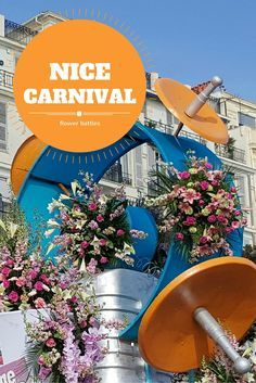 What is the flower battle (bataille des fleurs) at Nice Carnival on the Côte d'Azur, France?  It's a unique and very pretty winter event on the French Riviera involving a lot of flowers!