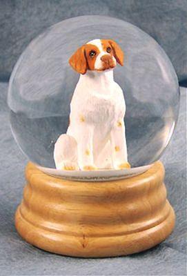 Brittany Dog Musical Water Snow Globe Orange You Ve Got A Friend