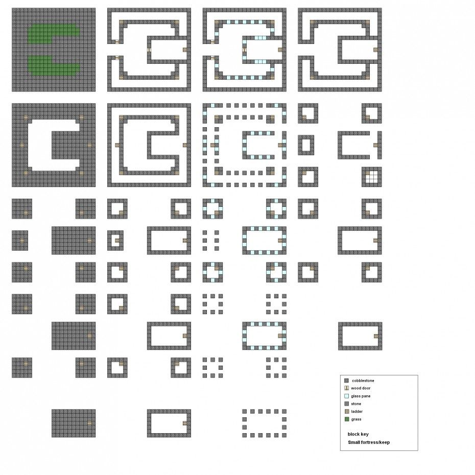 Picture Of Minecraft Floorplans Small Keep By Falcon01 On Deviantart Minecraft Houses Blueprints Minecraft Castle Minecraft Blueprints
