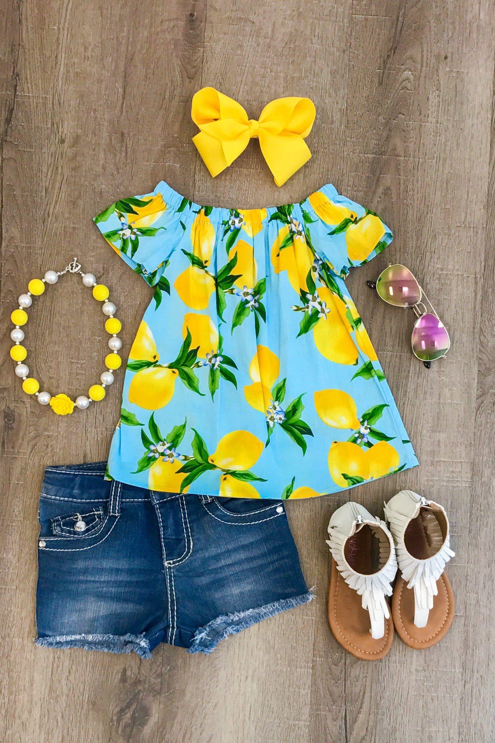 2557c1d14832 Light Blue Lemonade Shirt Girl Toddler Clothes