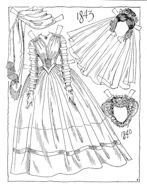 Victorian Brides Paper Dolls By Charles Ventura Nena Bonecas De