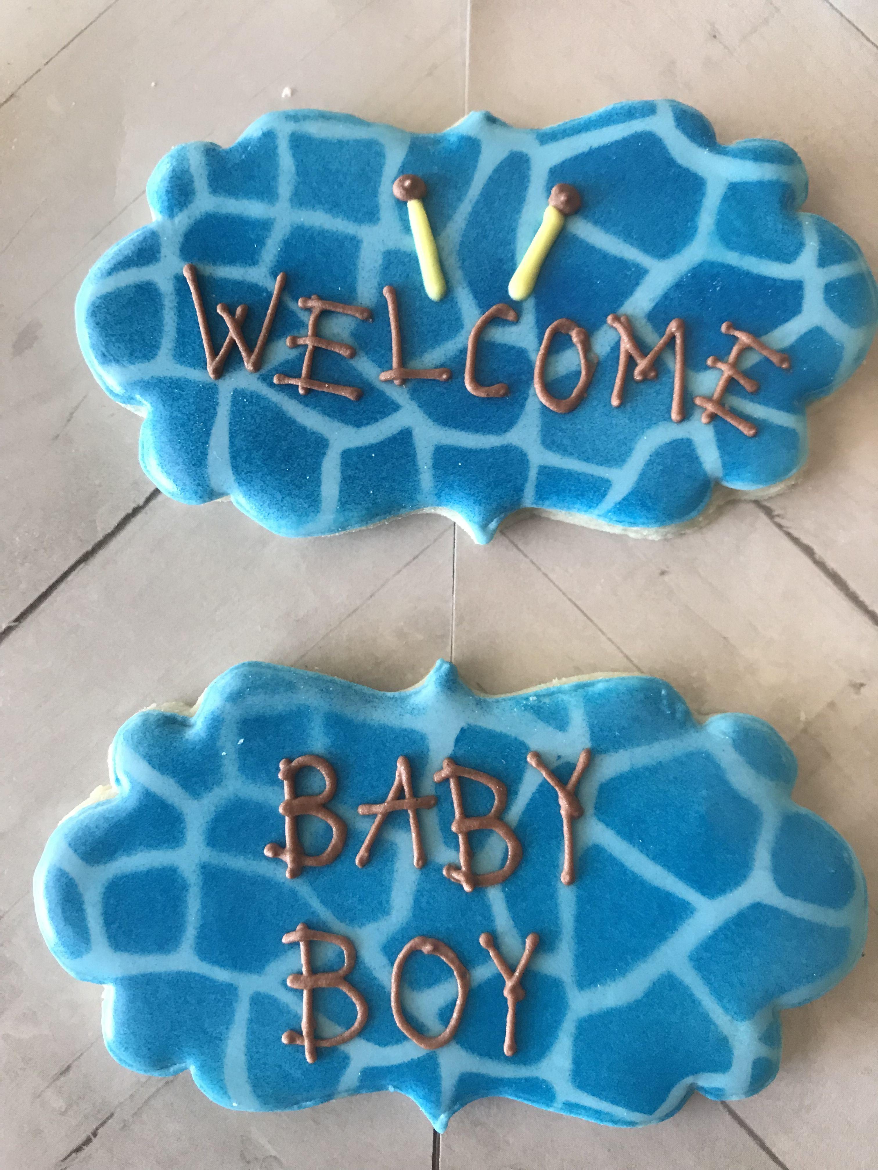 Custom Decorated Sugar Cookies #Cookies #Royalicing #Babyshower