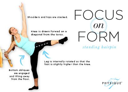 Focus on Form: Standing Hairpin #fitness #properform #fitfluential #lunges #physique57 #barre #physique57