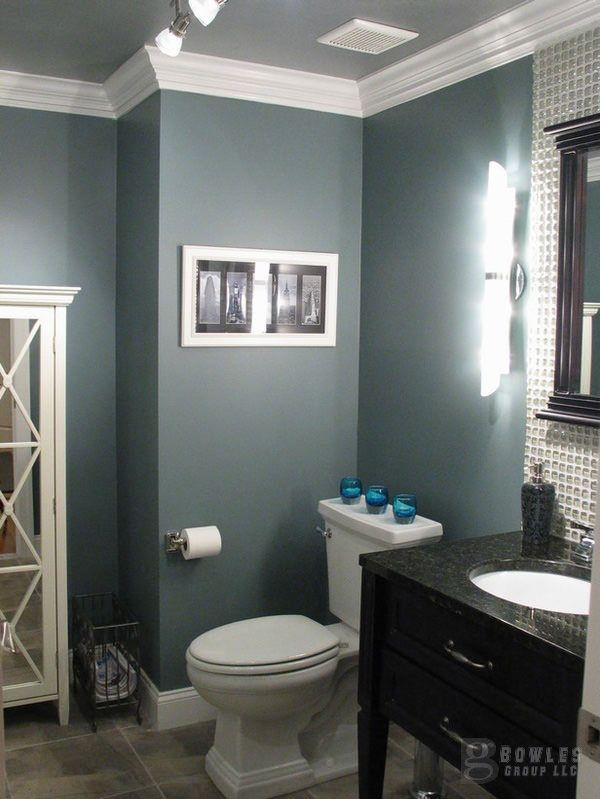 Crown Molding In A Small Bathroom