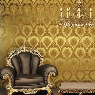 Gold wallpaper for home