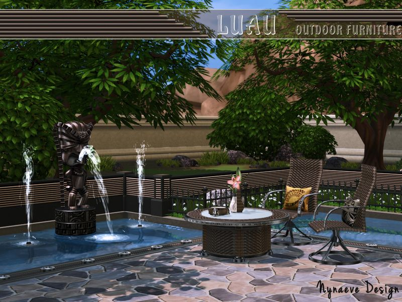 Gather Friends And Family Around This Hawaii Themed Patio Set. Let Your  Sims Relax And