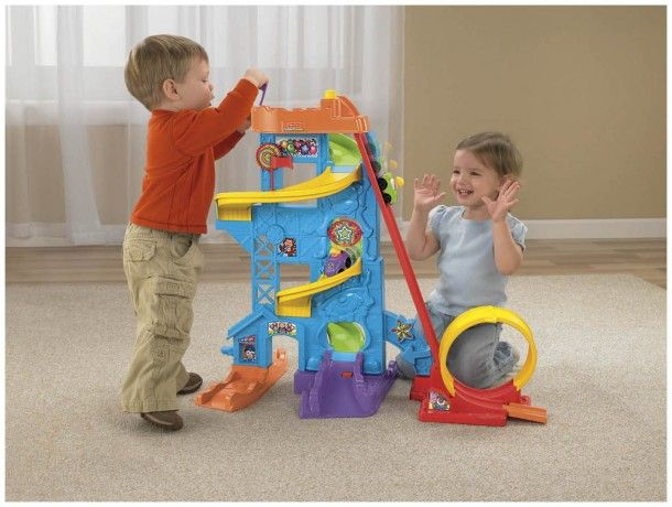 The Fisher-Price Wheelies Loops n' Swoops Amusement Park is a large standing toy designed not only for fun, but to provide fine motor skill development for young children. This toy brings a popular toy design to little hands. It looks like a fun option for children who love cars. Let's take a closer look to see what this toy has to offer toddlers. Check out our Best Movies Ever Holiday Shop for gift ideas for everyone in your life for any occasion.