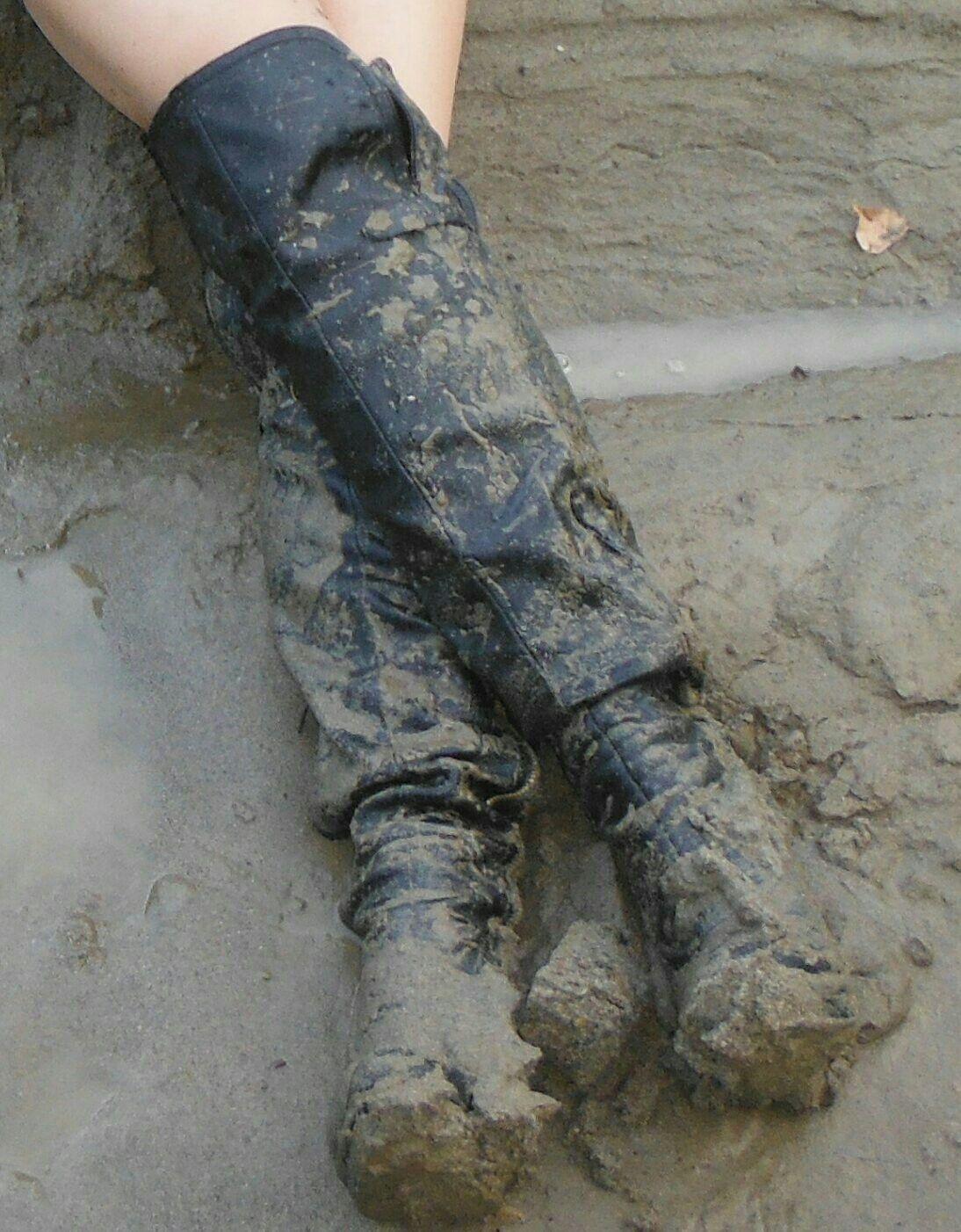 Muddy boot fetishtures — 14
