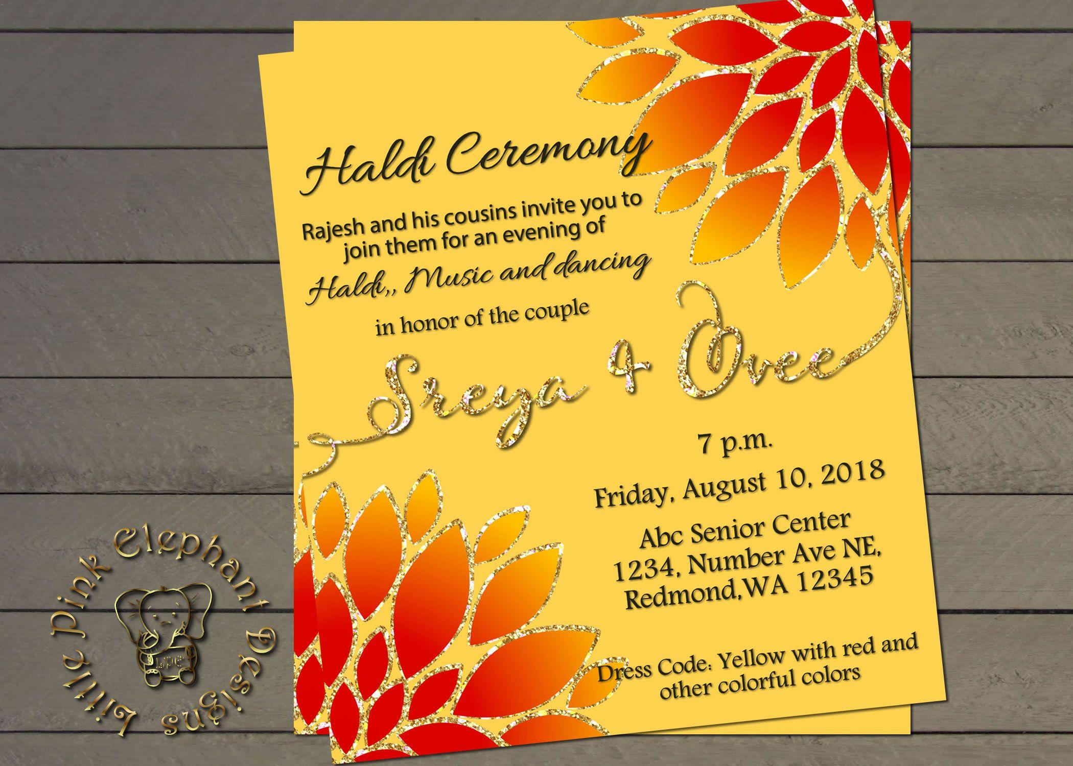 Haldi Invitation Haldi Ceremony Invitation Bollywood Birthday Party