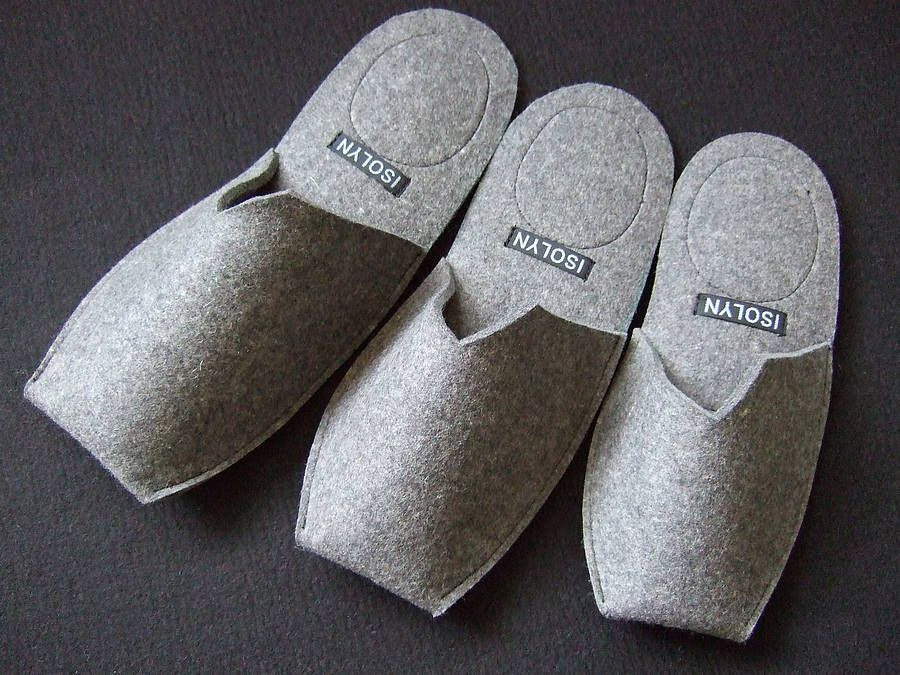 Men's Felt Slippers | Felted slippers, Slippers, Felt shoes