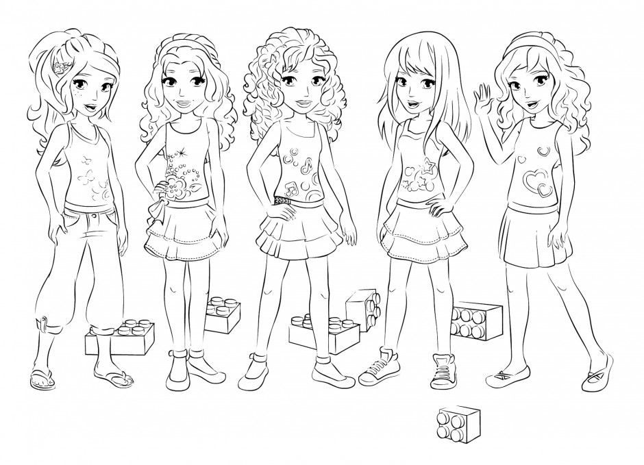 Great Lego Friends Coloring Book