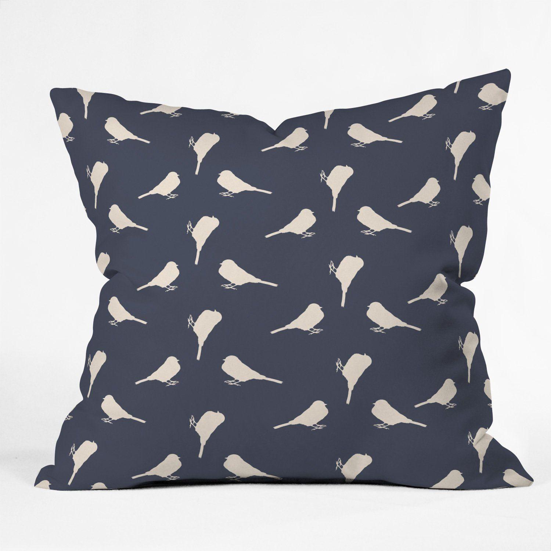 Allyson Johnson Little Birdies Outdoor Throw Pillow Outdoor Throw Pillows Throw Pillows Pillows