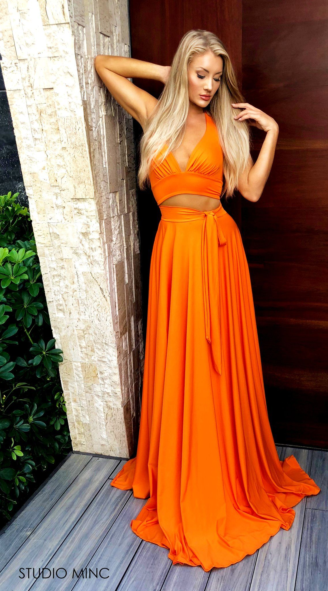 acb36b3790 Orange Cuba - two piece by STUDIO MINC. Prom and Formal dress.