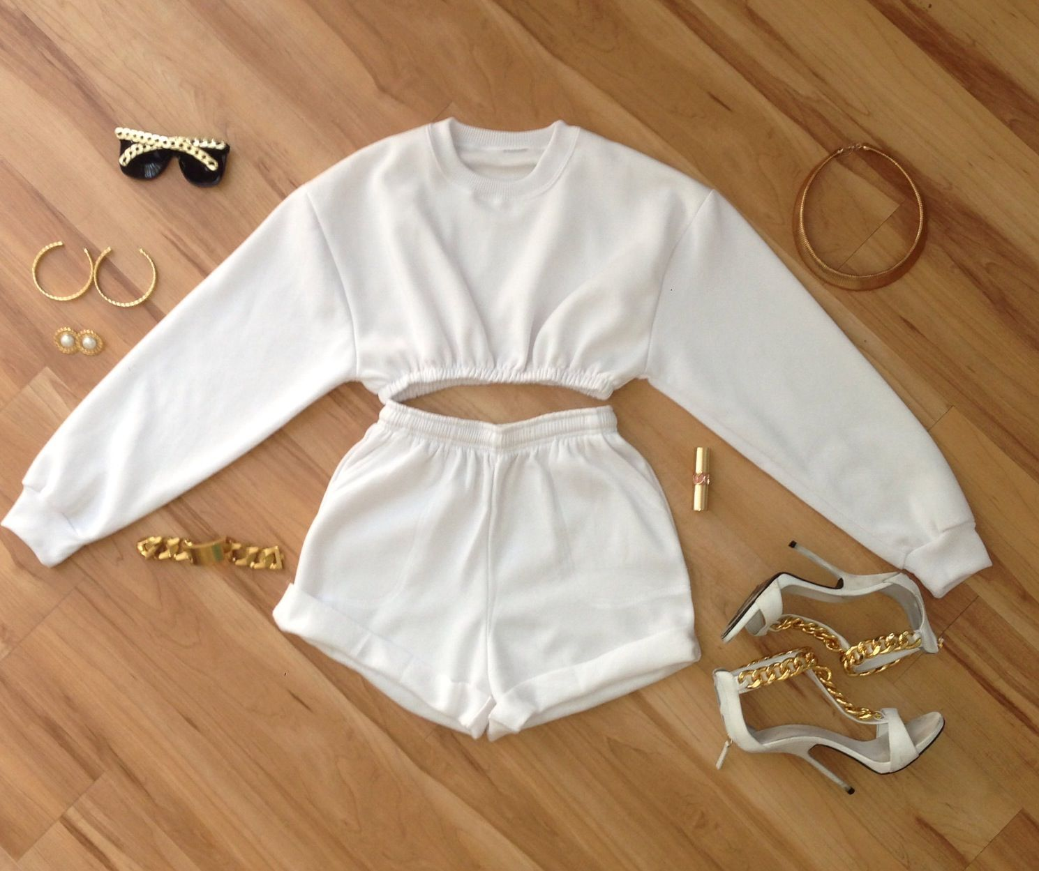 White hot! Sweat suit set from sosorella.com | N I G H T O U T ...