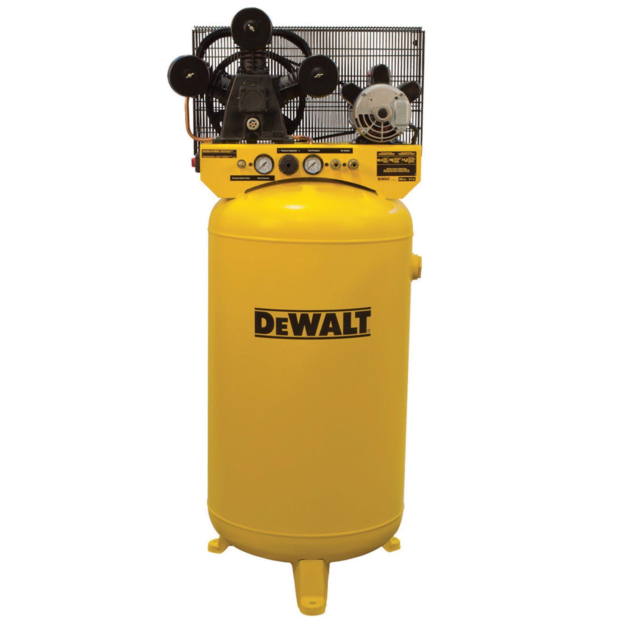 DeWALT Vertical Air Compressor 80 Gallon, HiFlo, Single