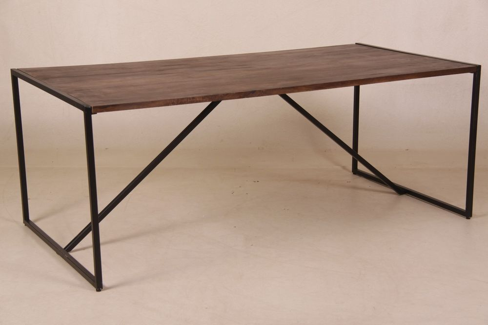 Tanja Esstisch Industriedesign Holz Metall 200 X 100 Cm Vintage