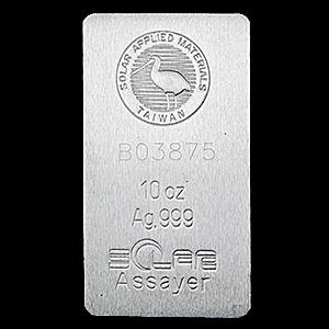 Solar Silver Bar 10 Oz Vat Free Silver Bars Silver Silver Gold