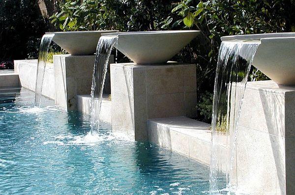 Breathtaking Pool Waterfall Design Ideas | Waterfall design, Pool ...
