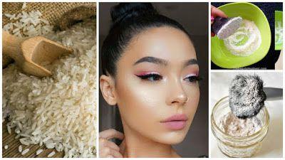 maquillaje de arroz casero