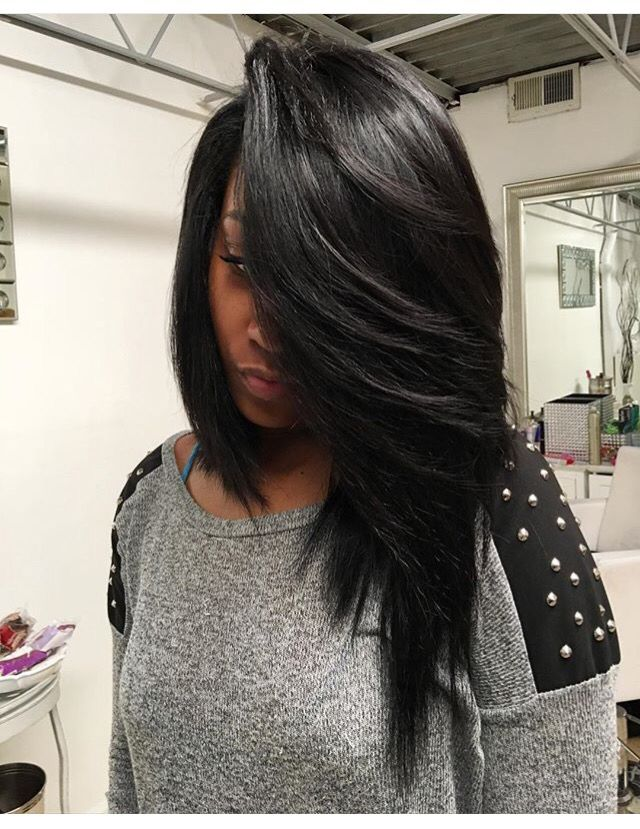 I love the difference in the length of this asymmetrical ...