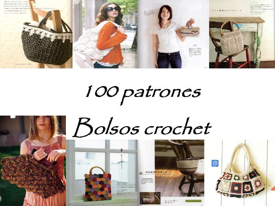 100 Patrones de bolsos a crochet | Crochet | Pinterest | Crochet ...