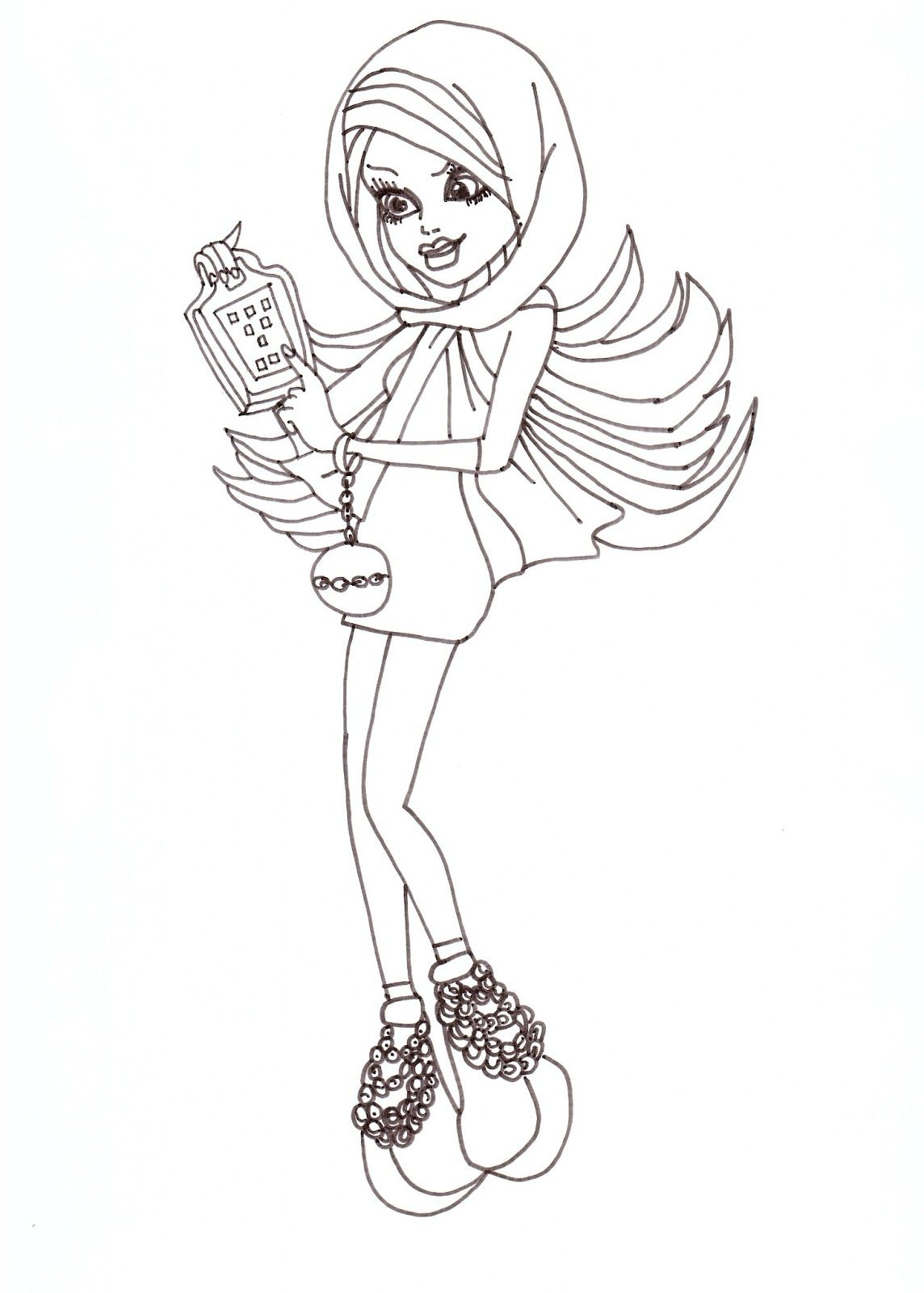 Ausmalbilder Monster High Spectra : Spectra Monster High Coloring Pages Free Printable Monster High