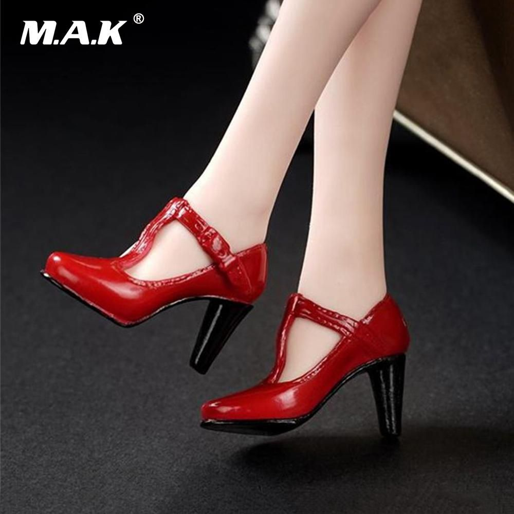 Black 1//6 Scale Stiletto Heeled Shoes for 12 inch Female Figures Clothing