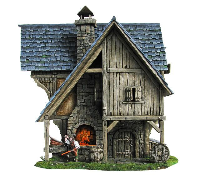 medieval forge - Google Search | Miniature Cabins ,Chalets, Cottages