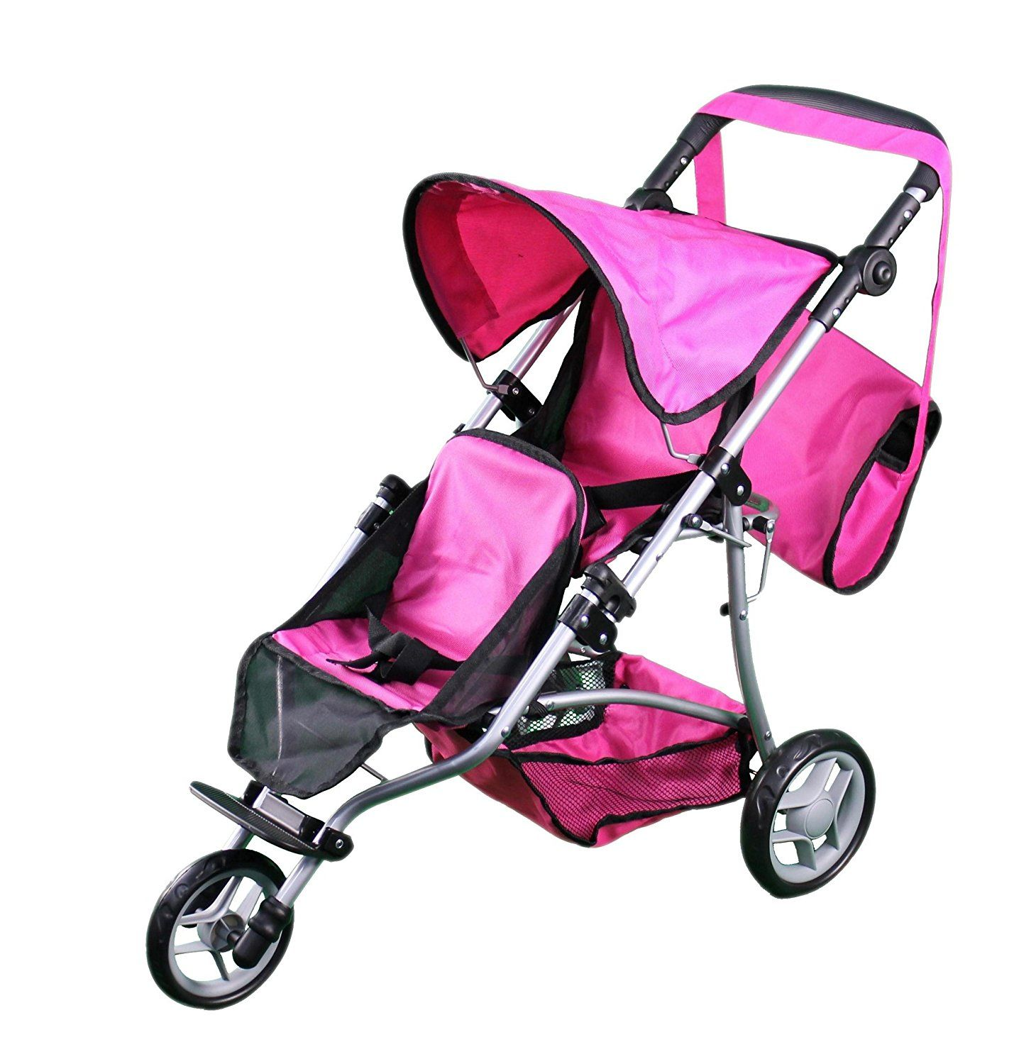 Double Dolls Pram Amazon Amazon Mommy Me Twin Doll Jogger 9669dl With Free