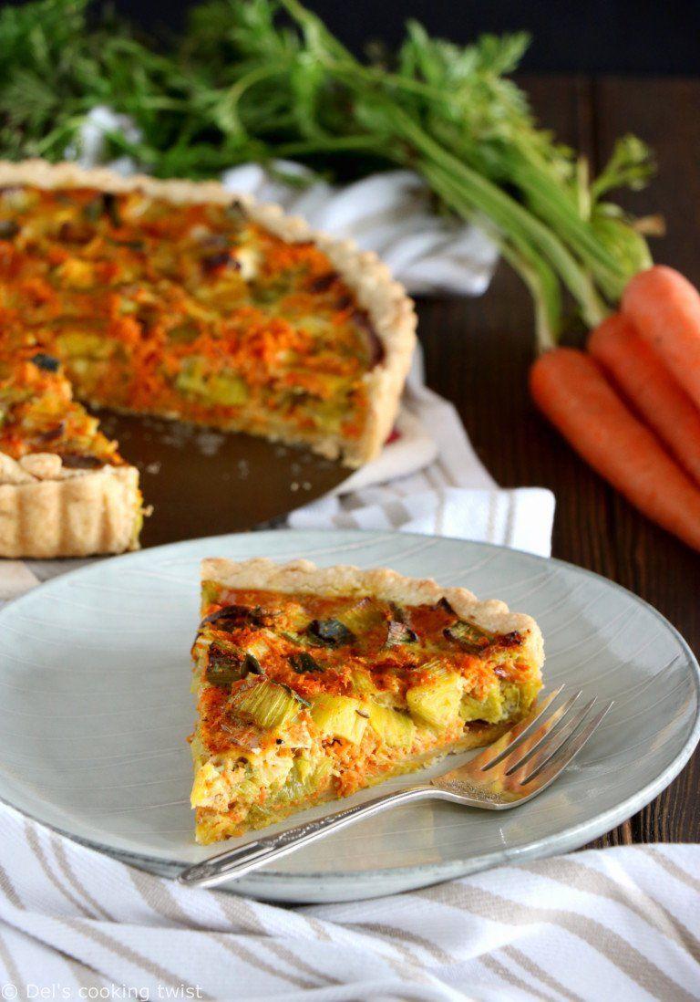 Quiche poireaux-carottes épicée au curry | Recette ...