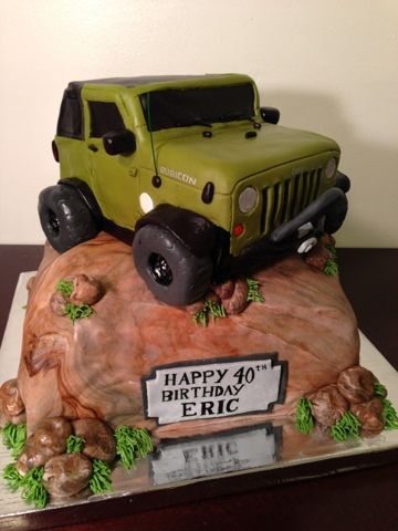 Jeep cake Kelleys Cake Creations Birthday ideas Pinterest