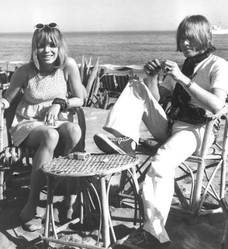 Rolling Stone Brian Jones and girlfriend model Suki Poitier on holiday in Marbella, August 1967