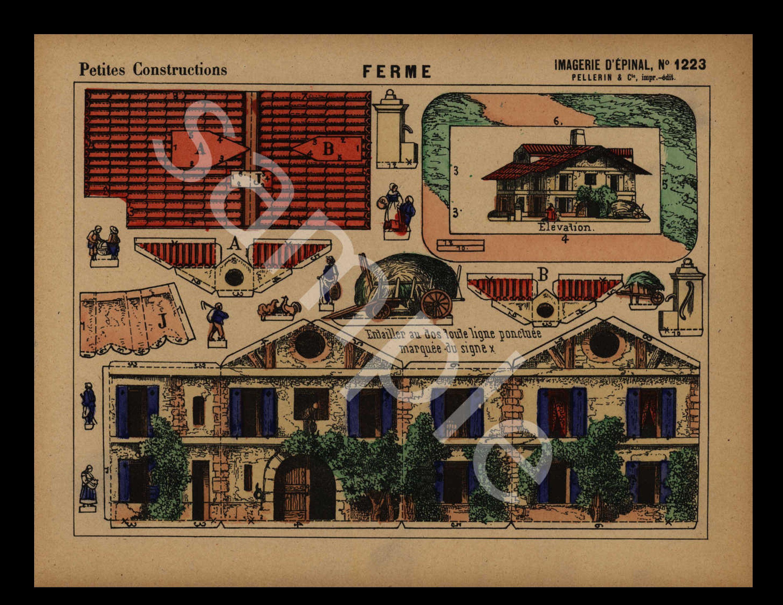 Large folio size wall art 1905 Original Architecture Color Lithograph Decorative art Rare DER ARCHITEKT Wiener Monatshefte home decor