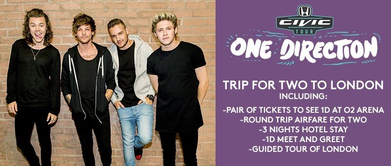 Drive away with one direction enter for a chance to win a custom drive away with one direction enter for a chance to win a custom honda civic m4hsunfo