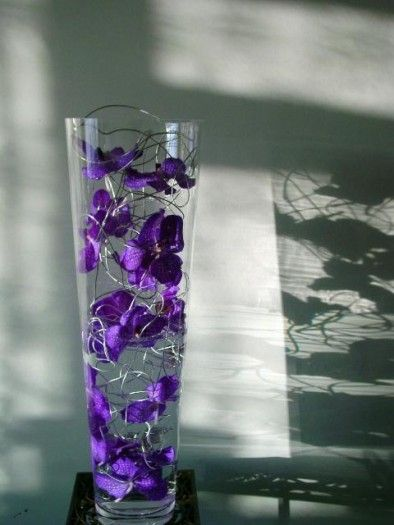 Blue Orchids A Giant Glass Vase Filled With Submerged Vanda Blue Magic Orchids In Water