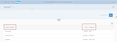 How to change the annotations sap:label, sap:heading and sap