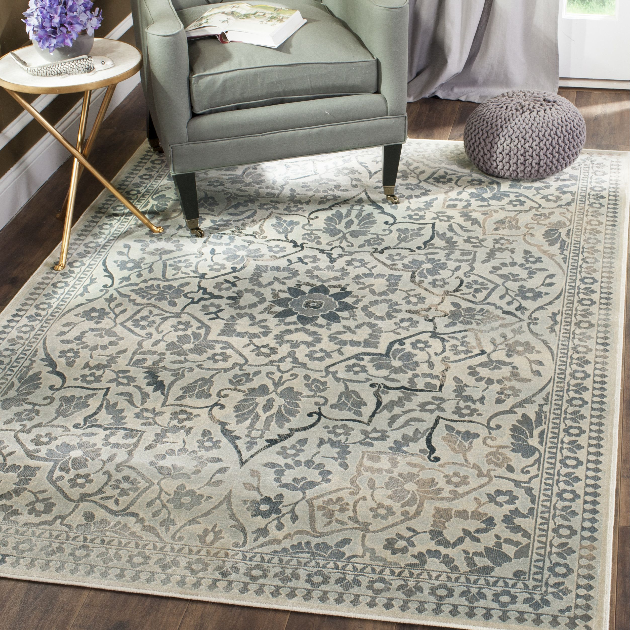 Wonderful Lark Manor Malakoff Cream/Light Blue Area Rug Part 30