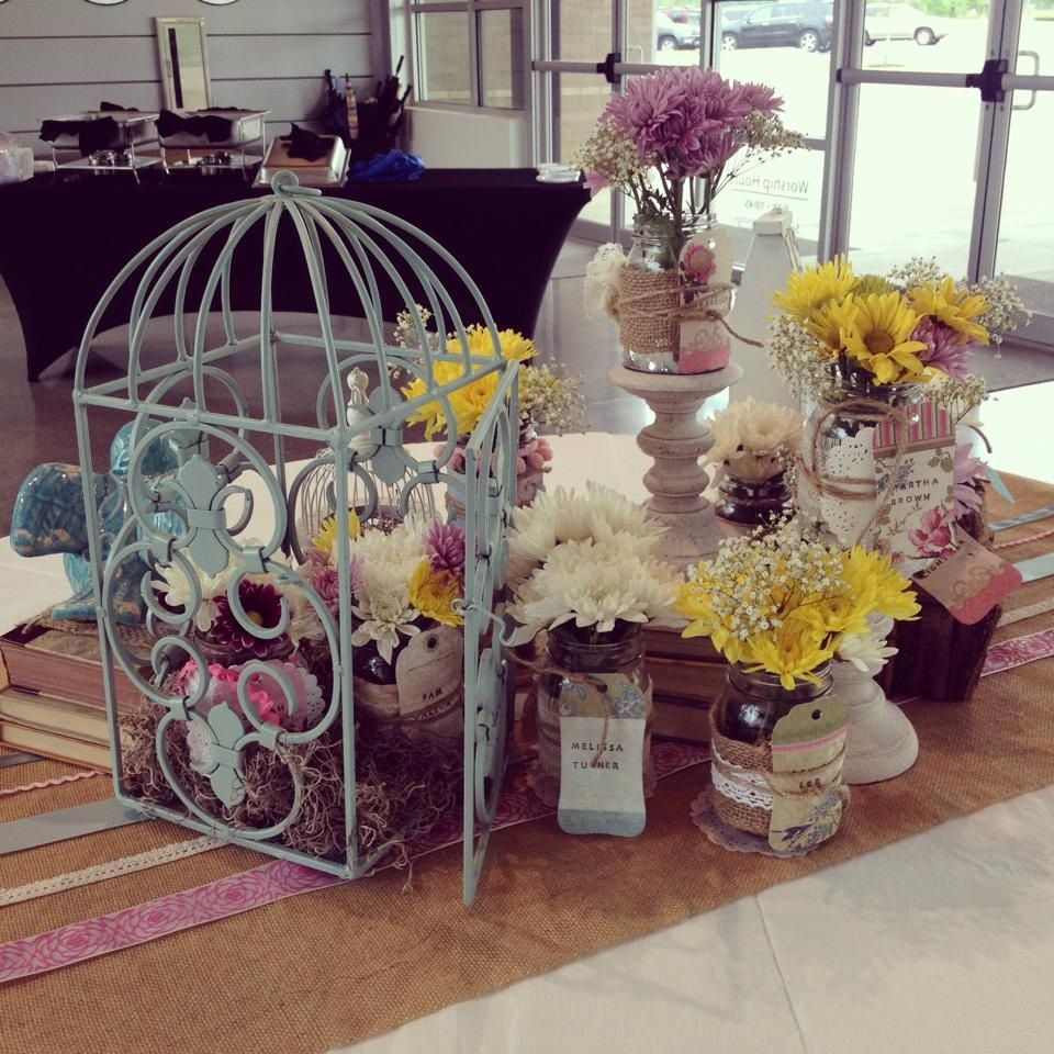Shabby Chic Wedding Table Decorations: Table I Decorated For A Teacher Appreciation Luncheon