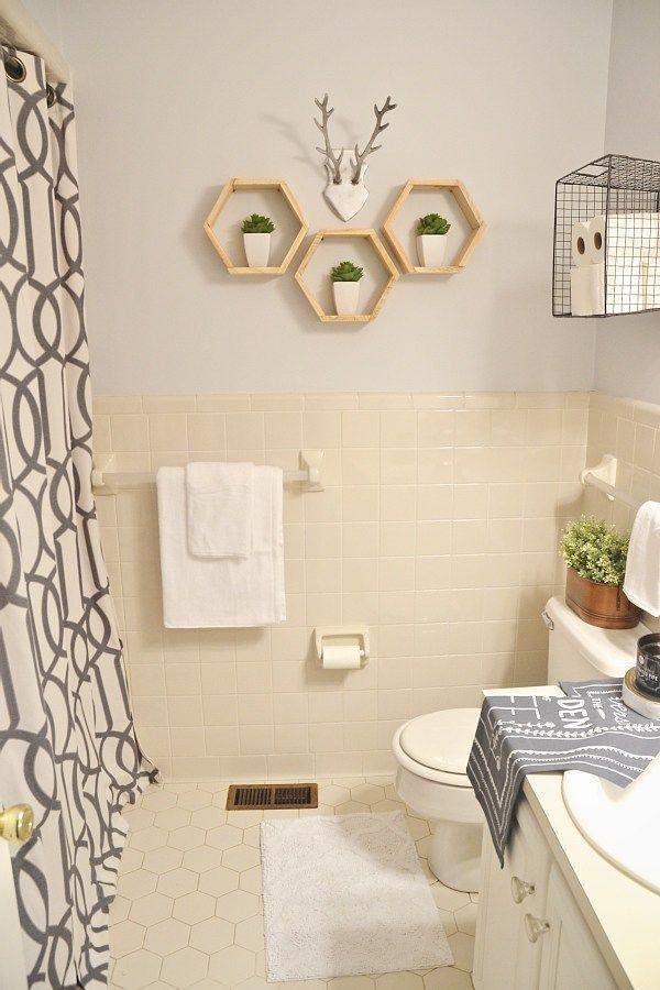 College Apartment Bathroom Ideas light & bright guest bathroom reveal | lights, apartments and college