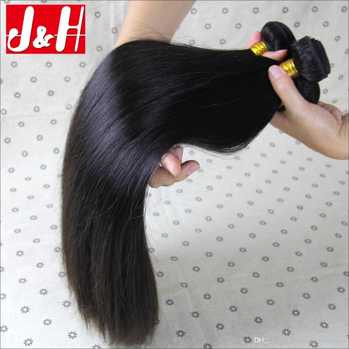 Grade 8a Virgin Brazilian Peruvian Malaysian Straight Human Hair