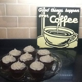 These are my Devil Food Cinnamon Scented Cupcakes with Almond Cream Cheese Frosting. If you are a chocolate lover you will loves these!