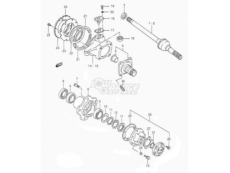 suzuki samurai differential exploded diagram