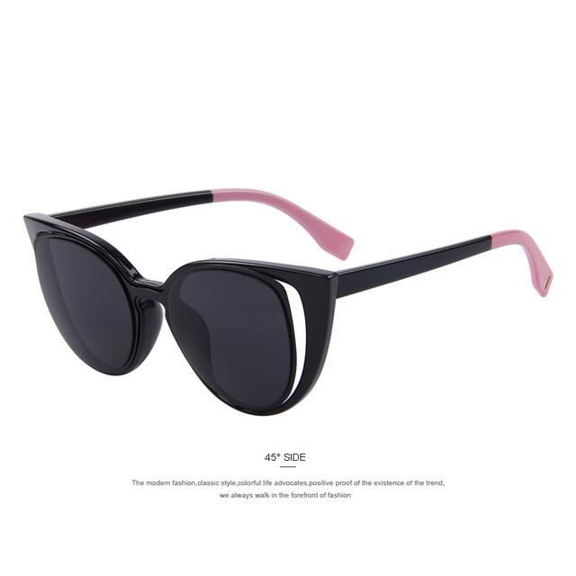 fd72b679f2 Fashion Cat Eye Sunglasses Women Brand Designer Retro Pierced Female Sun  Glasses oculos de sol feminino UV400 Eyewear Type  Sunglasses Item Type   Eyewear ...