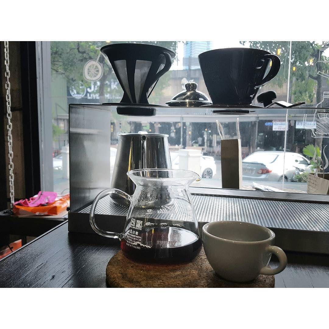 CAFFEINE LOADING ...  . . . . #caffeine #cafehopping #cafehoppingbkk #pourovercoffee #pourover #dripcoffee #cofferoaster #v60coffee #hario http://ift.tt/20b7VYo
