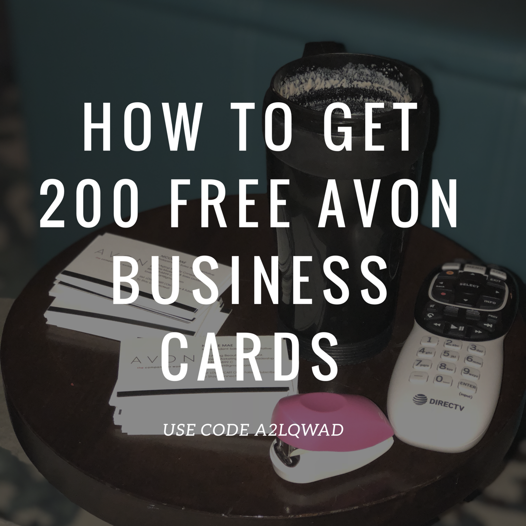 How To Get Your Free AVON Business Cards ABOUT