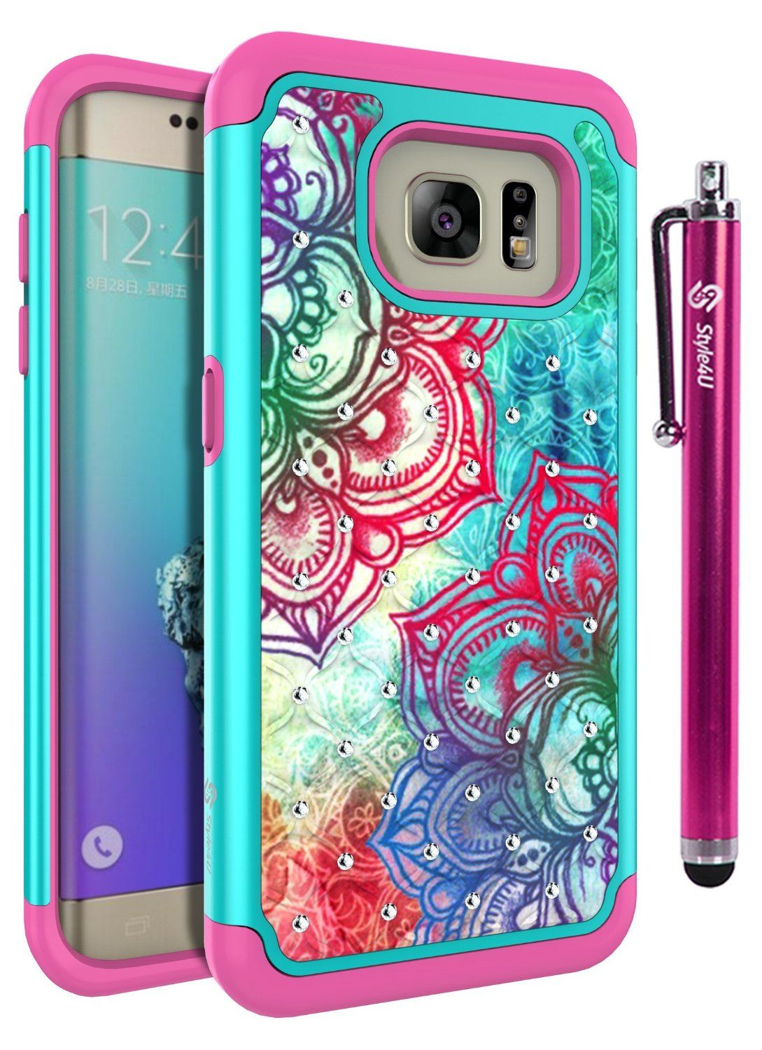 big sale 12a70 ff8e7 Amazon.com: S7 Edge Case, Galaxy S7 Edge Case, Style4U Hawaiian ...